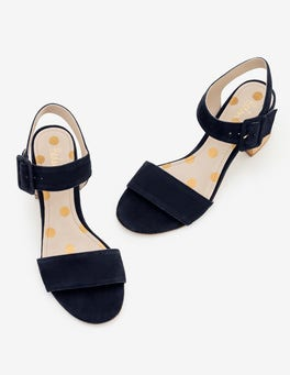Navy Margot Heeled Sandals