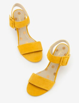 Bright Dijon Margot Heeled Sandals