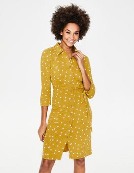 Dijon Brand Dot Tara Jersey Shirt Dress