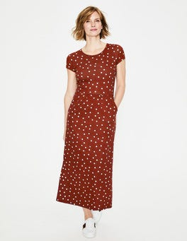 Conker Brand Dot Nicola Jersey Midi Dress