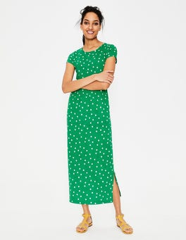 Highland Green Brand Dot Nicola Jersey Midi Dress
