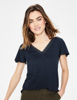 Navy Margie Jersey Top