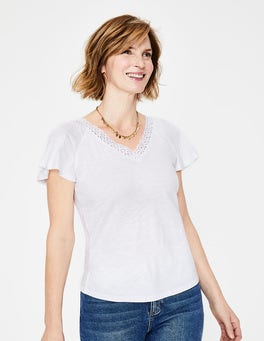 White Margie Jersey Top