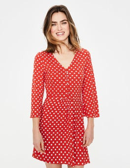Red Pop Star Spot Scarlett Jersey Tunic
