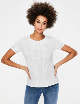 White Cressida Jersey Top