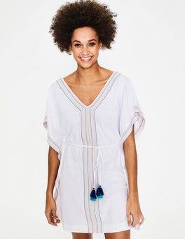 White/Multi Eloise Jersey Kaftan