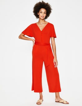 Red Pop Ella Jersey Jumpsuit