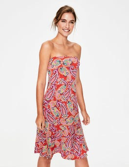 Red Pop Mexican Paisley Lilah Multi-way Dress