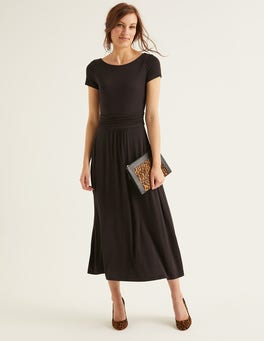 Black Alda Jersey Midi Dress