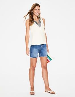 Ivory Jennifer Embroidered Vest