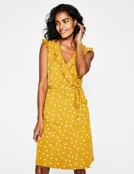 Dijon, Brand Dot Jodie Jersey Wrap Dress