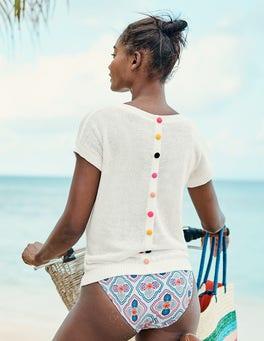 T-shirt Aubrey boutonné dans le dos