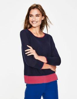 Navy Armelle Relaxed Sweater