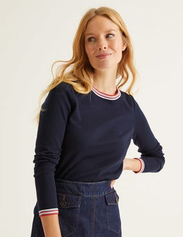 Navy/Multi Tipping Elina Sweater