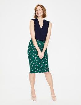 Woodland Green. Daisy Cloud Richmond Pencil Skirt