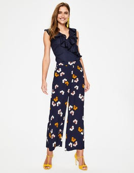 Navy, Daisy Cloud Exeter Wide Leg Culottes