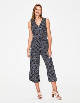 Navy, Rainbow Dot Verity Jumpsuit