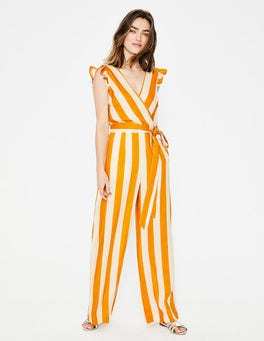 Yellow Ochre, Ivory Stripe Mila Jumpsuit
