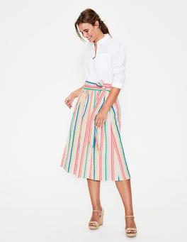Fluro Stripe Cathy Midi Skirt