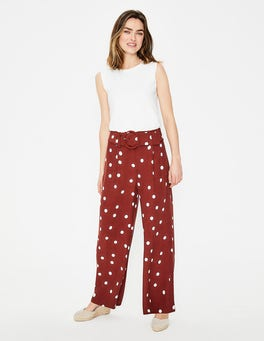 Conker and Ivory, Brand Dot Carrick Wide Leg Trousers