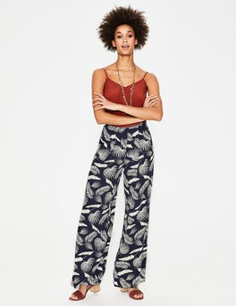 Navy, Jungle Palm Padstow Pants