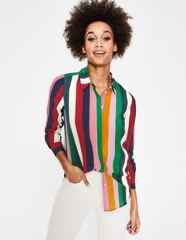 Multi Stripe Silk Shirt