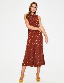 Conker & Ivory Spot Clarissa Midi Dress