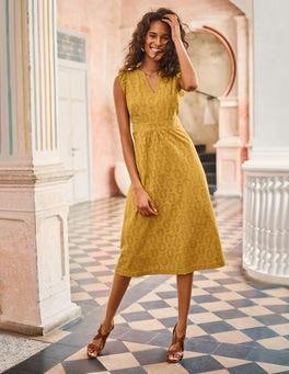Hallie Broderie Midi Dress