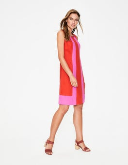 Red Pop Tilly Linen Dress