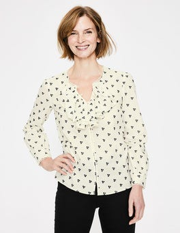 Ivory Leah Embroidered Blouse