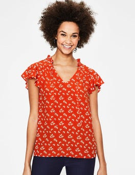 Red Pop Daisy Cloud Angelica Top