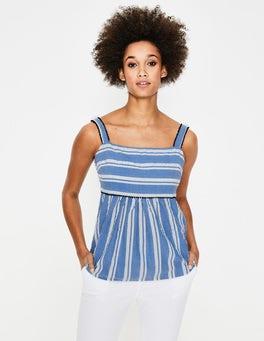 Blue Stripe Agnes Top
