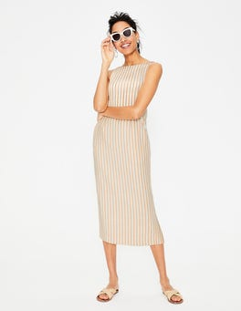 Yellow Ochre Stripe Maggie Midi Dress