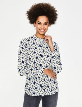 Ivory Spotty Bloom Mabel Shirt