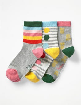 Happy Three Pack Socks