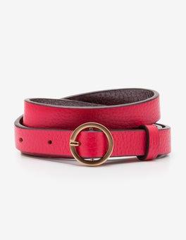 Dark Rose Skinny Waist Belt