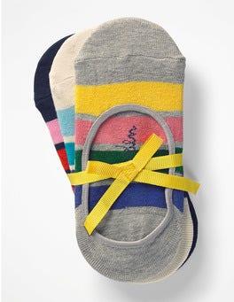Rainbow Stripe Three Pack Secret Socks