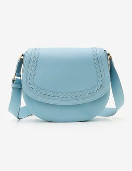 Heron Blue Lingfield Midi Saddle Bag