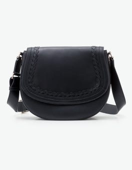 Navy Lingfield Midi Saddle Bag