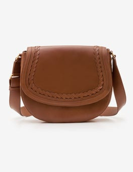 Tan Lingfield Midi Saddle Bag