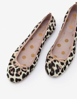 Ivory Leopard Ballerinas