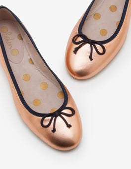 Rose Gold Metallic Ballerinas