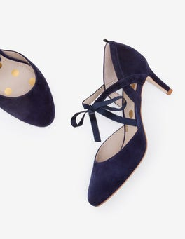 Navy Lavinia Mid Heels