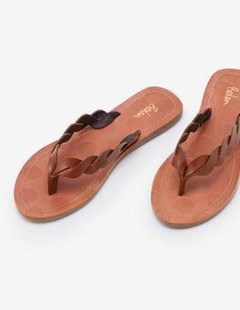 Tan Clementine Flip Flops