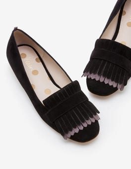 Black with Pewter Melody Loafers