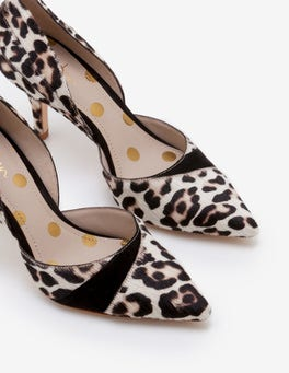 Ivory Leopard Henrietta Heels