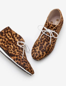 Hellbraun, Leopardenmuster Ashbourne Stiefel