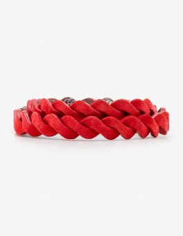 Red Pop Woven Waist Belt