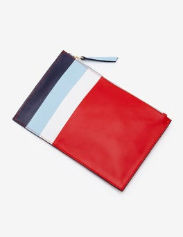 Red Pop Stripe Keepsake Pouch