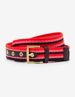 Red Pop/Garden Rose/Navy Webbing Belt